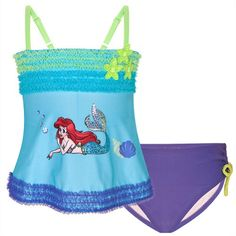 Disney Store Ariel The Little Mermaid Swimsuit 2Piece Swimwear Size XS 4 4T -- Check this awesome product by going to the link at the image.