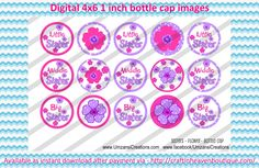 """1"""" Bottle Caps sisters flower bottle cap #family #friends #bottlecap #BCI #shrinkydinkimages #bowcenters #hairbows #bowmaking please purchase via link  http://craftinheavenboutique.com/index.php?main_page=index&cPath=323_533_42_63"""