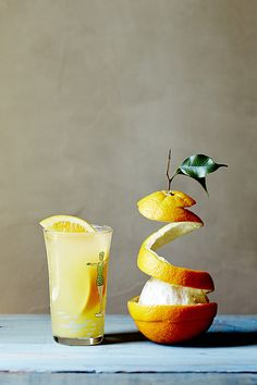 fuzzy navel: 1 oz. vodka, 1 oz. peach schnapps, orange juice (combine ingredients in cocktail shaker; pour into ice-filled glass; for bonus points, garnish w/ limequat)