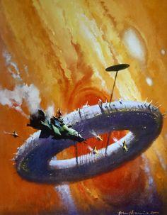 "martinlkennedy: ""Jupiter (author: Ben Bova), 2000 by John Harris. Image from the book the Art of John Harris: Beyond the Horizon (2014) """