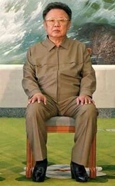 "And finally, we come to Kim Jong-Il, of North Korea. He took power in 1998 when his father, Kim Il-Sung, died. Kim travels with his ""Pleasure Squad"", a group of beautiful women. Kim is praised as the ""Creator of the Universe"", along with his father. Kim is praised as having had a supernatural birth, and claims that North Korea is the most democratic, free, and respected nation on earth. He claims that he invented the hamburger, and that he is the greatest golfer in history."