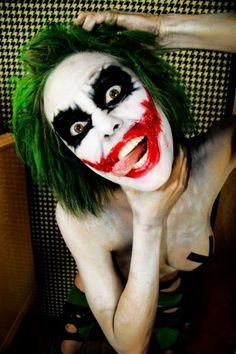 creepy big mouth joker clown face makeup for 2015 Halloween - red eyes, costume - 2015 Halloween makeup ideas by Joker Halloween, Halloween 2014, Halloween Cosplay, Halloween Make Up, Halloween Costumes, Halloween Ideas, Halloween Party, Joker Make-up, Joker Clown