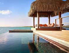 Otemanu Over-Water Bungalow with Plunge Pool - Four Seasons Resort Bora Bora. Photo copyright Four Seasons Resort Bora Bora. Bora Bora Resorts, Hotels And Resorts, Maldives Hotels, Luxury Resorts, Luxury Accommodation, Vacation Destinations, Dream Vacations, Dream Trips, Beach Vacations
