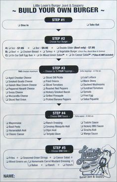 sandwich shop menu ideas