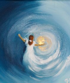 Bride of Christ in swirl of love and light, prophetic art.