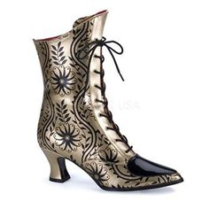 Heels Club Victorian Gold print Boots fashion Fancy Dress, Gold/Black, 7 Heels Club http://www.amazon.co.uk/dp/B004K2EUM8/ref=cm_sw_r_pi_dp_in.Uub0J6PW3D