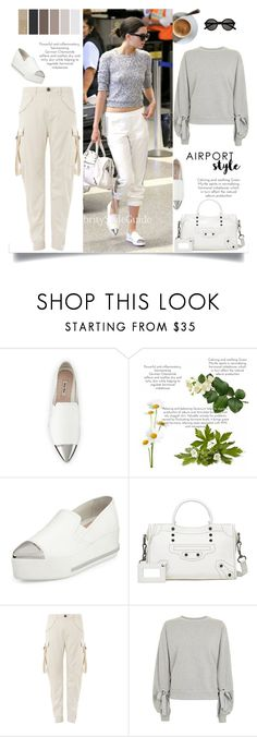 """""""Untitled #246"""" by craftsperson ❤ liked on Polyvore featuring Miu Miu, Balenciaga, Topshop, Yves Saint Laurent and airportstyle"""