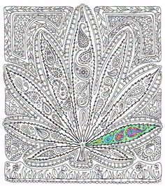 Adult Coloring Page Got Leaf Printable Pot By CandyHippie