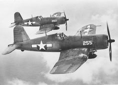 F4U-1A Corsairs of Marine Squadron VMF-224 in...