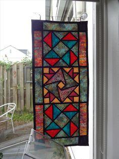 Glas-in-lood quiltje, 2016.