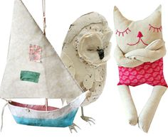 really interested in a project that incorporates both fabric and paper mache
