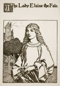 The Lady Elaine the Fair, illustration from 'The Story of Sir Launcelot and his Companions', 1907 Fine Art Print by Howard Pyle