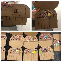 Supplies Needed: Card stock Markers Glue Sparkles/Confetti/Glitter Preschool Pirate Theme, Pirate Activities, Toddler Activities, Pirate Kids, Pirate Day, Kids Pirate Crafts, Summer Crafts For Toddlers, Toddler Crafts, Daycare Crafts