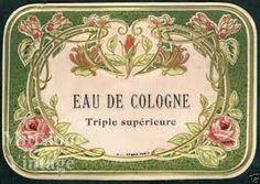 Resultado de imagen de imagenes vintage etiquetas de perfumes