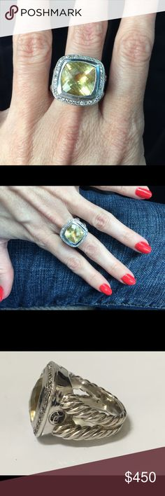 david yurman 14mm albion champagne citrine ring david yurman champagne citrine 14mm albion ring in sterling silver authentic comes with original box and