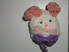 Easter Door knob bunny cover by HookedonPBJ on Etsy, $2.50
