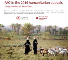 FAO in the 2016 humanitarian appeals.