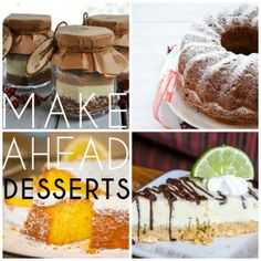 Make Ahead Dessert Recipes