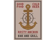 Golden+Girls+Inspired+RUSTY+ANCHOR+Cross+Stitch+by+neverdyingpoet