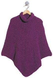 "FREE poncho pattern on Ravelry - see other models wearing project on Ravelry (under ""projects"" on tab menu bar).  Prettier than it looks."