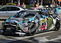 Ken Block at the World Rally Championship in Salou (Spain)