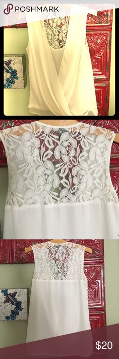 Selling this Kut from the Kloth Lace Back, White Top Sz S on Poshmark! My username is: karaleighbee. #shopmycloset #poshmark #fashion #shopping #style #forsale #Kut from the Kloth #Tops