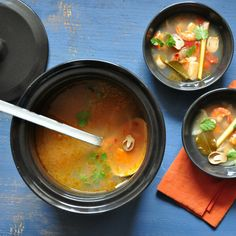 #Fall is upon us! Leaves are changing color and we are adapting our menus to warm up a bit... What about a spicy Thai soup?