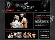 Tattoo Shop Website Design by Miriam Lazaro, via Behance | tattoos ...