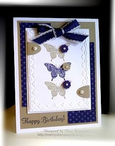 Butterfly card - great colours