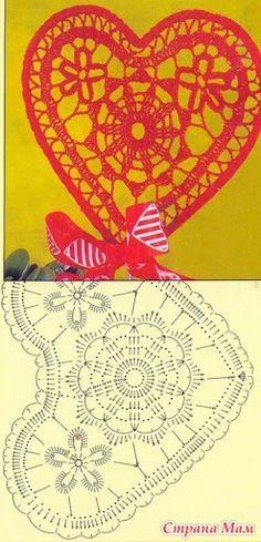 Идеи и схемки по вязанию сердечек - Клуб рукоделия - Страна Мам