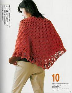 Chal punto Peruano realizado con Horquilla - Patrones Crochet hairpin lace crochét