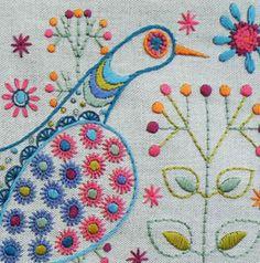 Kit de bordado de amortiguador de aves de por NancyNicholsonDesign