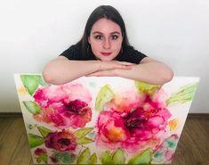 Watercolor Canvas, Tote Bag, Instagram, Totes, Tote Bags