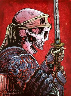A samurai warrior lives and dies with honor in this painting by Day of the Dead artist David Lozeau. Samourai Tattoo, Samurai Artwork, Art Asiatique, Ouvrages D'art, Art Japonais, Desenho Tattoo, Art Graphique, Skull Art, Asian Art