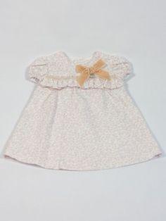 vestido niña rosa rochy invierno. classic baby dress