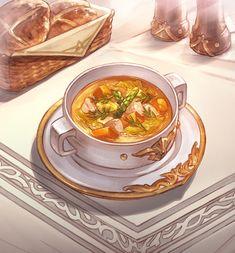 Cute Food Art, Love Food, Food Art Painting, Real Food Recipes, Yummy Food, Food Clipart, Cute Food Drawings, Food Stations, Food Illustrations