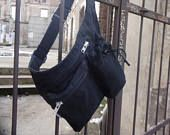 Hip Bag Waxed Canvas, Black Hip Bag, Travel Belt Pouch, Festival  Belt Bag, Fanny Pack, Waist Pack, Utility Bag, Babywearing Bag
