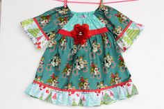 Retro Vintage Look Frosty Snow Holiday  Dress by WildOliveKids, $35.00