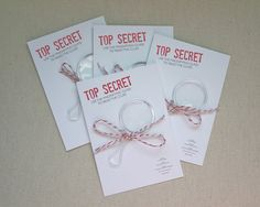 Would be adorable for a spy themed birthday party!!!!!