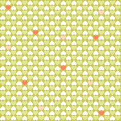 Woodland hearts fabric by heleenvanbuul on Spoonflower - custom fabric