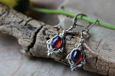Fire Opal Earrings Laced Victorian Settings Enchanted Forest Lever Back Hooks Cameo Jewelry, Opal Jewelry, Mexican Fire Opal Ring, Alexandrite Jewelry, Summer Gifts, Bridesmaid Jewelry Sets, Grad Gifts, Opal Earrings, Beautiful Necklaces