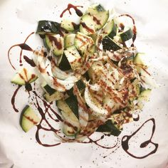 Veggies for the BBQ - chopped zucchini with balsamic reduction, garlic, onion, sea salt. Vegan Catering, Balsamic Reduction, Sea Salt, Olive Oil, Zucchini, Onion, Gypsy, Garlic, Cabbage