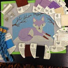 needlepoint fox