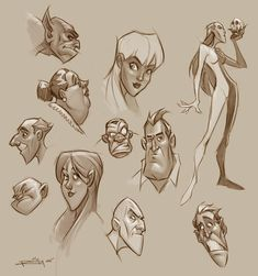 Character sketches by preilly on deviantart inspiration char Character Design Sketches, Character Design Cartoon, Character Design Animation, Character Design References, Character Design Inspiration, Art Clipart, Image Clipart, Sketch Manga, Girl Sketch