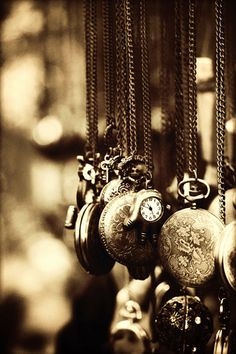 Sepia Photography: Vintage Clocks Wall Art by YarsPhotography