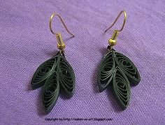 quilled earrings patterns - Google Search