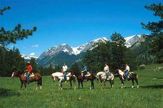 Estes Park Rocky Mountain National Park Horseback Trail Riding