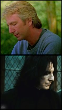 """1991 & 2011 .... 20 years difference .... Alan Rickman as Sinclair in """"Close My Eyes,"""" 1991 and as Professor Snape in """"Harry Potter and the Deathly Hallows: Part 2,"""" 2011."""