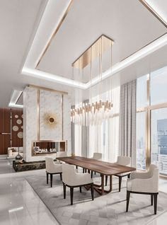 room design luxury Jaw-Dropping Dining Room Luxury Ideas You Have to Steal wohnzimmer licht House Ceiling Design, Ceiling Design Living Room, Dining Room Design, Modern Ceiling Design, Gypsum Ceiling Design, Modern Design, Art Deco Interior Living Room, Home Interior Design, Interior Modern