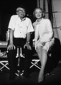 """""""Fortune Cookie"""" Billy Wilder and visitor to the set, Marlene Dietrich 1966 UA / MPTV"""